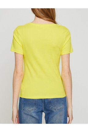 Koton Kadın Sari T-Shirt 3