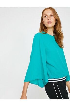 Koton Kadın Yeşil Volanlı Bluz 0