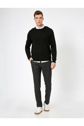 Koton Erkek Gri Cep Detaylı Pantolon 1