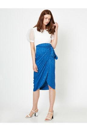 Koton Skirtly Yours Styled By Melis Agazat - Desenli Beli Baglamali Etek 1