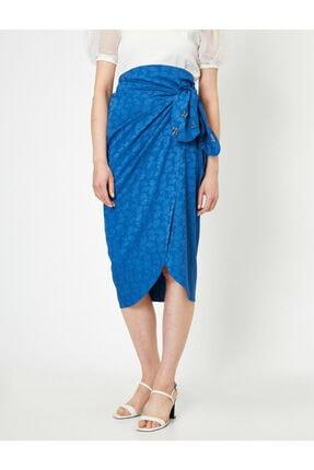 Koton Skirtly Yours Styled By Melis Agazat - Desenli Beli Baglamali Etek 2