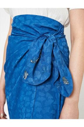 Koton Skirtly Yours Styled By Melis Agazat - Desenli Beli Baglamali Etek 4