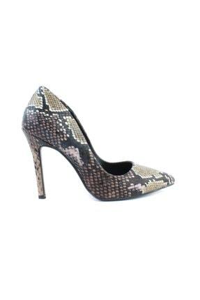 inderi Kadın Kahverengi Snake Ayakkabı 0