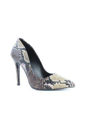 inderi Kadın Kahverengi Snake Ayakkabı 1