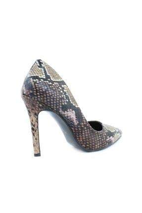 inderi Kadın Kahverengi Snake Ayakkabı 2