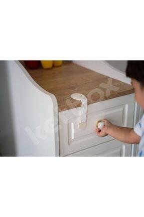 ketbox Çocuk Bebek Çekmece Dolap Beyaz Eşya Güvenlik Emniyet Kilidi Çok Amaçlı Kilit 10 Adet 4