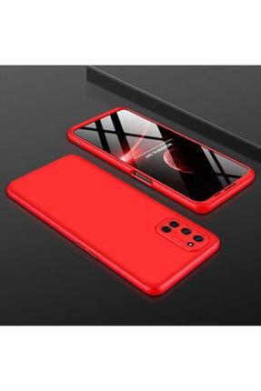 Oppo A72 Sert Silikon Kılıf Kırmızı 0