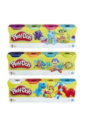 Play Doh Play-doh 4'lü Oyun Hamuru 448 Gram Turkuaz - Pembe - Yeşil - Mor 0