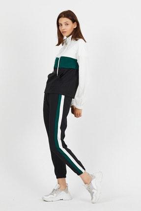 Koza Butik Zara Yeşil Garnili Fermuarlı Eşofman Takımı 1
