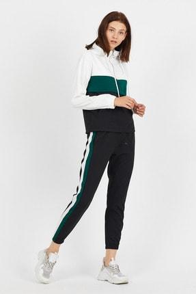Koza Butik Zara Yeşil Garnili Fermuarlı Eşofman Takımı 2