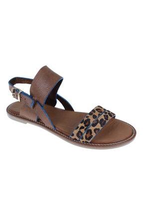 SHALİN Kadın Kahve Deri Sandalet 0