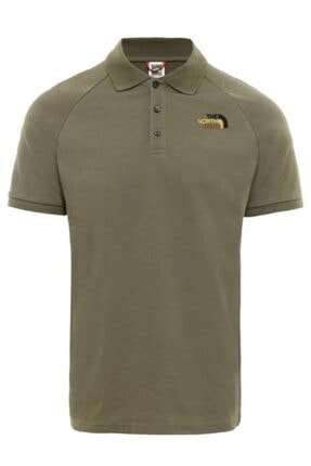 The North Face Raglan Jersey Polo Erkek T-shirt Yeşil 0