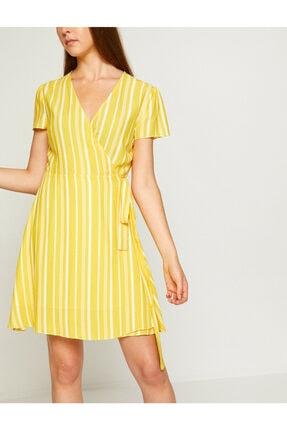 Koton Kadın Sarı Beli Bağlamalı Elbise 8YAK82461UW 2