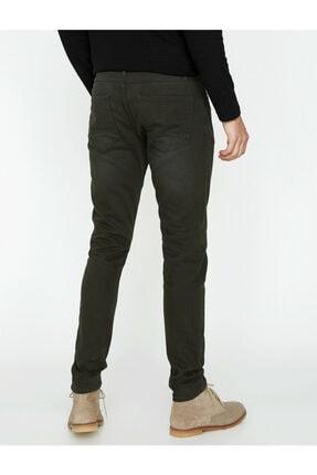 Koton Erkek Siyah Düşük Bel Dar Kesim Pantolon 8YAM41138LW 3
