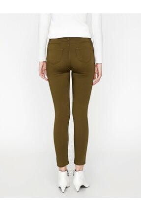 Koton Kadın Yeşil Pantolon 3