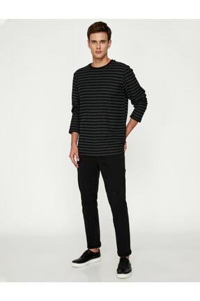 Koton Erkek Siyah Pantolon 9KAM41964LW 0