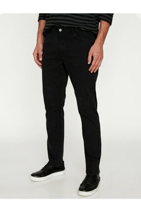 Koton Erkek Siyah Pantolon 9KAM41964LW 2