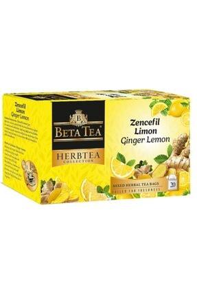 Beta Tea Zencefil Limon Çayı 20x2 Gr - Beta Herbtea Collection 0