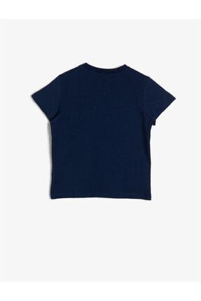 Koton Erkek Çocuk Lacivert Yazili Baskili T-shirt 1