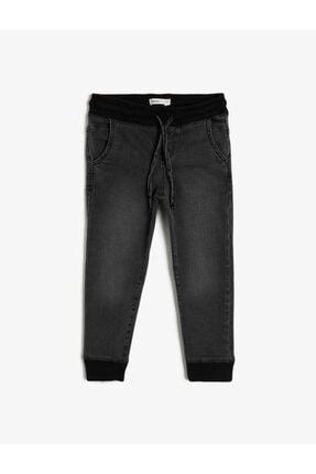 Koton Erkek Çocuk Basic Beli Ve Paçasi Ribanali Beli Kordonlu Jogger Jean Pantalon 0