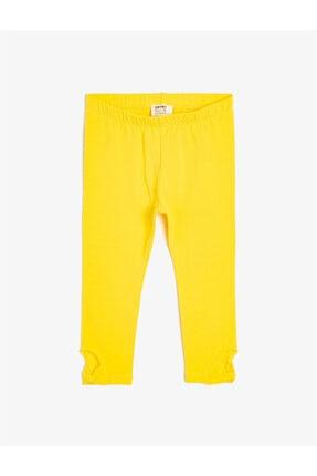 Koton Kız Çocuk Sarı Tayt 0
