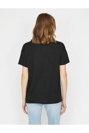 Koton Kadın Siyah T-Shirt 3