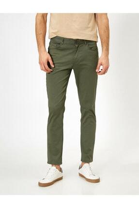 Koton Erkek Yeşil Cep Detayli Pantolon 0YAM42505BW 2