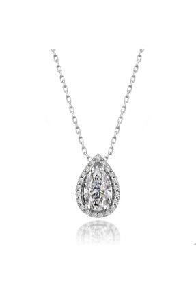 Kara Jewelry Gümüş Kolye Original Swarovskı Damla Taşlı Bayan Kolye 1
