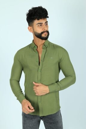 JİYAN Erkek Haki Gömlek 0