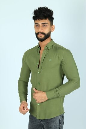 JİYAN Erkek Haki Gömlek 1