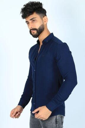 JİYAN Erkek Lacivert Gömlek 1