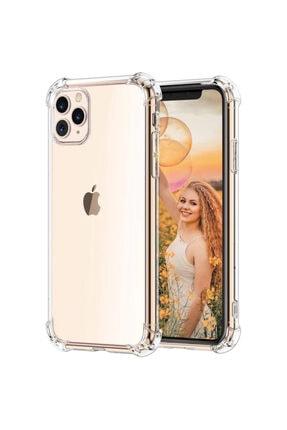 Kzy Mobilya Apple Iphone 11 Pro Şeffaf Airbag Antishock Silikon Kılıf + Nano Glass Ekran Koruyucu 0
