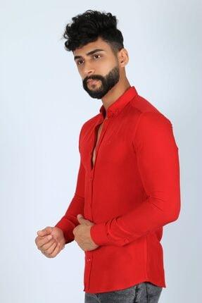 JİYAN Erkek Kırmızı Gömlek 2