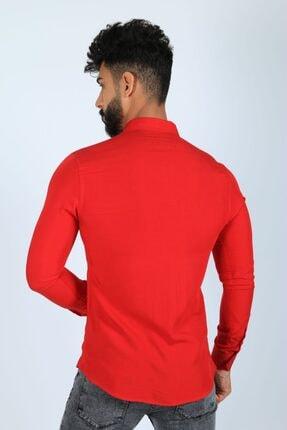JİYAN Erkek Kırmızı Gömlek 3