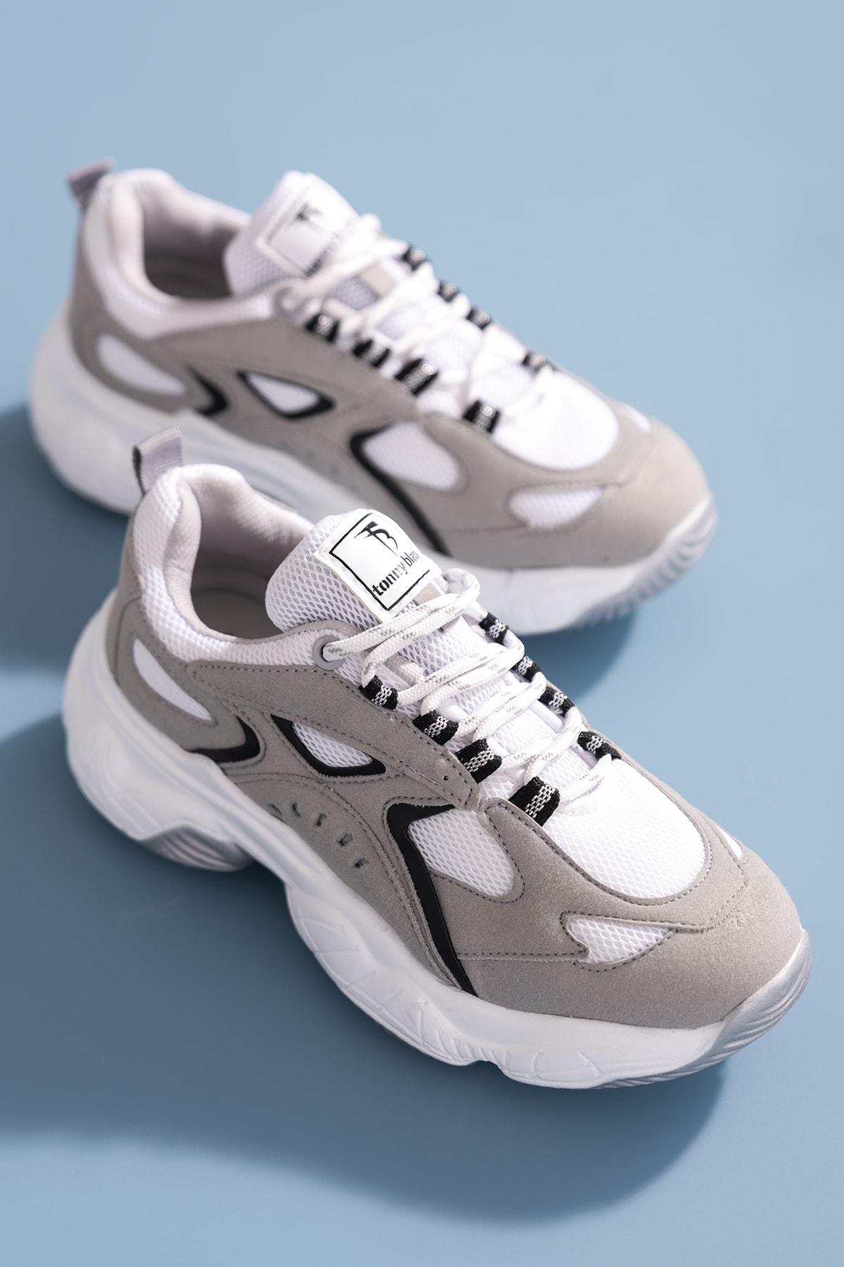 Kadın Beyaz Gri Spor Ayakkabı Tb288