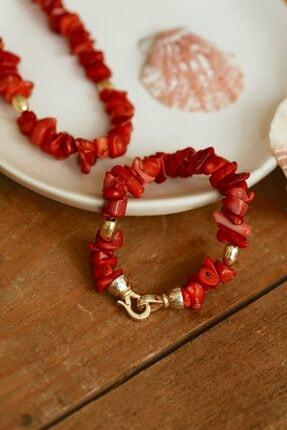 Linya Jewellery Kadın Kırmızı Mercan Bileklik 1