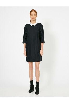 Koton Kadın Siyah Elbise 4