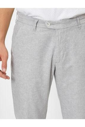 Koton Keten Karisimli Slim Fit Dokuma Pantolon 4