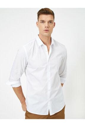 Erkek Beyaz Klasik Yaka Gömlek 0YAM69818VW
