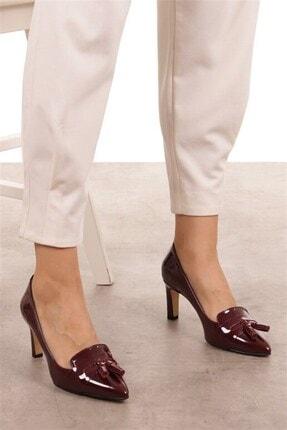 Mio Gusto Emma Bordo Rugan Topuklu Ayakkabı 1