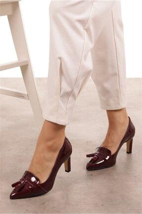 Mio Gusto Emma Bordo Rugan Topuklu Ayakkabı 3