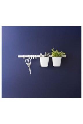 Marka Ikea Sunnersta 12x11 Cm Askılı Saksı Kutu Sepet Kaşıklık Koyu Beyaz 2 Adet 0
