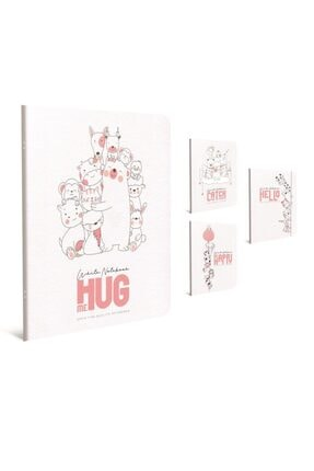 Gıpta White Notebook A4 Tel Dikişli Pp Kapak Defter 60 Yaprak Çizgili (6 Lı Paket) 4344 0