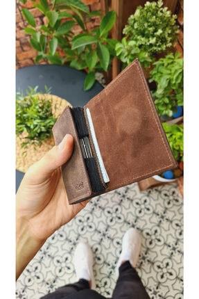 Visso leather Unisex Kahve Matrix Hakiki Deri Akordiyon Kartlık Çanta 660 3