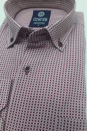 Özeniş Erkek Bordo Pamuklu Gömlek 1