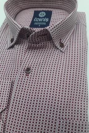 Özeniş Erkek Bordo Pamuklu Gömlek 3