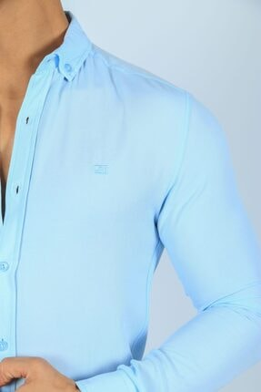 JİYAN Erkek Mavi Gömlek 3