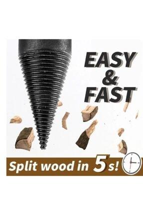 Titi Ahşap Şöminelik Odun Kütük Ayırma Yarma Matkap Ucu 3
