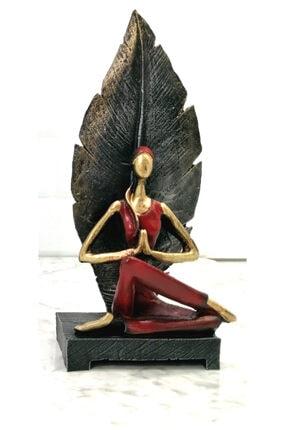 Gift Garden Dekoratif Yapraklı Yoga Yapan Kadın Biblosu 22 cm 1