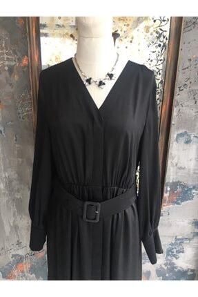 Ekol Kadın Siyah Midi Boy Elbise 1